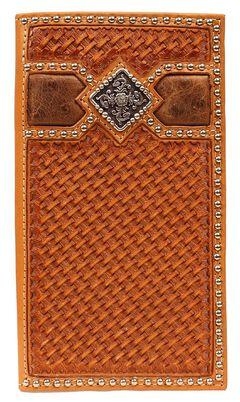 Ariat Basketweave Fancy Concho Rodeo Wallet, , hi-res