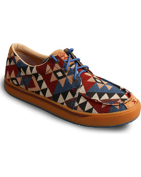 Twisted X HOoey Men's Graphic Pattern Canvas Shoes , Multi, hi-res