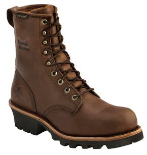 "Chippewa Women's Waterproof Insulated 8"" Logger Boots - Round Toe, Bay Apache, hi-res"