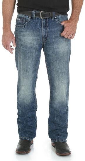 Wrangler Rock 47 Men's Mosh Pit Boot Cut Jeans - Slim Fit, Denim, hi-res