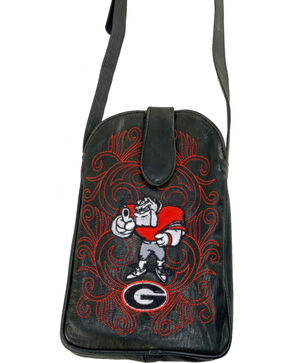 Gameday Boots University of Georgia Crossbody Bag, Black, hi-res