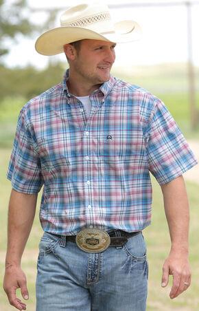 Cinch Men's Multi One Pocket Short Sleeve Shirt , Multi, hi-res