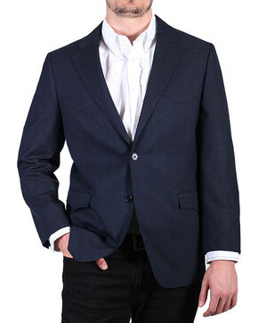 Cody James Men's Patterned Sport Coat , Black/blue, hi-res