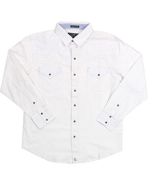 Cody James Men's Solid White Long Sleeve Shirt, White, hi-res