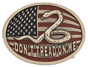 Cody James Don't Tread on Me Belt Buckle, Multi, hi-res
