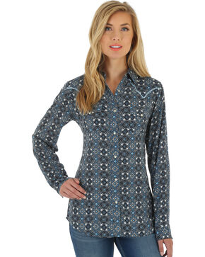 Wrangler Women's Multi Western Fashion Top , Multi, hi-res