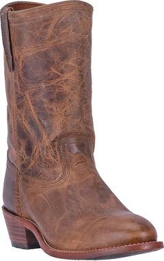 Dingo Vintage Tan Stewart Cowboy Boots - Round Toe , , hi-res