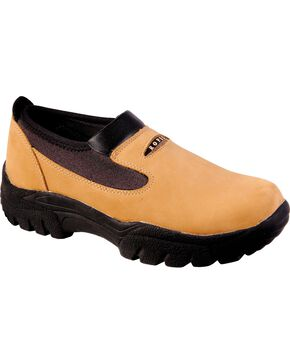 Roper Performance Slip-On Shoes - Round Toe, Brown, hi-res