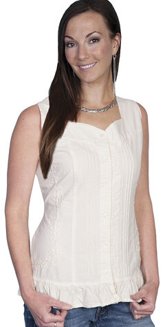 Scully Button Front Sleeveless Top, , hi-res