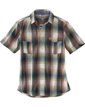 Carhartt Men's Hunter Green Bozeman Plaid Shirt , Hunter Green, hi-res