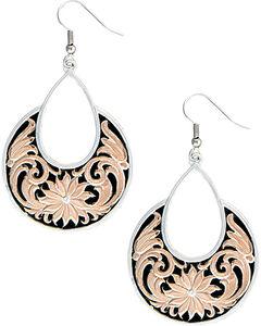 Montana Silversmiths Women's Rose Gold Bitterroot Garden Dangle Earrings , , hi-res