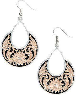 Montana Silversmiths Women's Rose Gold Bitterroot Garden Dangle Earrings , Multi, hi-res