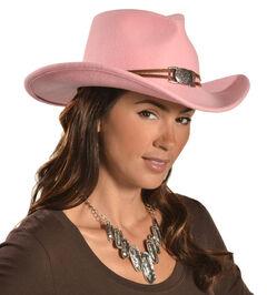 Juniper Pink Wool Felt Cowgirl Hat, , hi-res