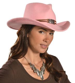 Juniper Pink Wool Felt Cowgirl Hat, Pink, hi-res