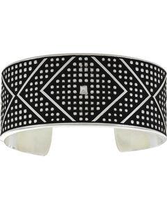 Montana Silversmiths CrossCut Bead & Chevron Cuff Bracelet, Silver, hi-res