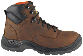 Smoky Mountain Men's Galloway Work Boots - Steel Toe, Brown, hi-res