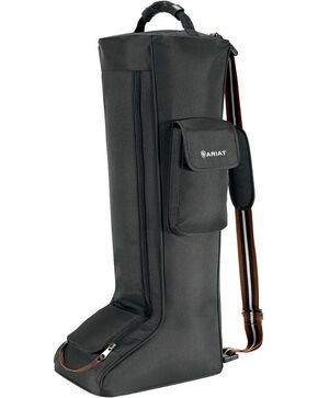 Ariat Poly Canvas Tall Boot Bag, Black, hi-res