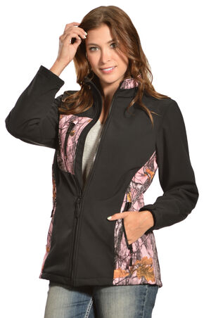 Red Ranch Women's Bonded Pink Camo Jacket , Black, hi-res