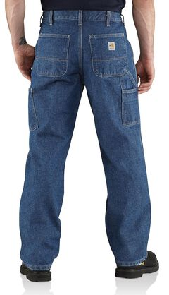 Carhartt Flame Resistant Utility Denim Dungaree Jeans - Big & Tall, , hi-res
