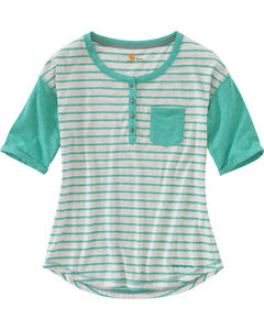 Carhartt Women's Spearmint Reagan Henley Shirt , , hi-res