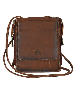 STS Ranchwear Baroness Euro Crossbody , Brown, hi-res