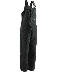 Berne Brown Duck Deluxe Insulated Bib Overalls - Short, , hi-res