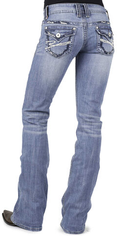 Stetson 818 Flap Back Pocket Jeans - Plus Size, , hi-res