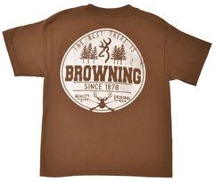 Browning Youth Boys' Brown Buckmark T-Shirt , , hi-res