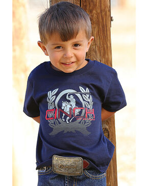 Cinch Toddler Boys' Navy Rodeo Tee , Navy, hi-res