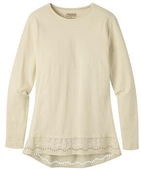 Mountain Khakis Women's Erin Eyelet Shirt, Cream, hi-res