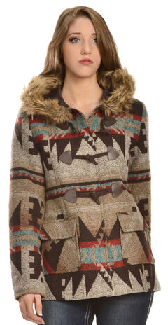 Red Ranch Women's Aztec Fur Collar Jacket, , hi-res