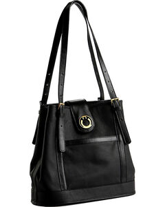 Designer Concealed Carry Black Palisade Tote Bag, , hi-res