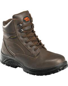 "Avenger Men's Brown Waterproof 6"" Lace-Up Work Boots - Steel Toe, , hi-res"