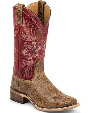Nocona Women's Tan Dust Ranch Hand Western Boots - Square Toe , Tan, hi-res
