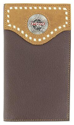 PBR Leather Lace Western Wallet, , hi-res