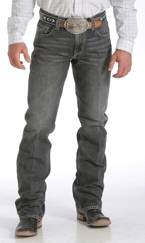 Cinch Carter Relaxed Fit Medium Stonewash Jeans - Boot Cut , Med Stone, hi-res
