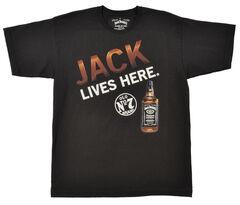 """Jack Daniel's Men's """"Jack Lives Here"""" Black T-Shirt, , hi-res"""