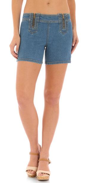 Wrangler Retro® Women's Indigo Zip Sides Sadie Shorts , Indigo, hi-res