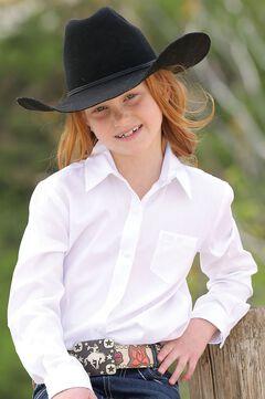 Cruel Girl Girls' White Long Sleeve Button Up Top, , hi-res