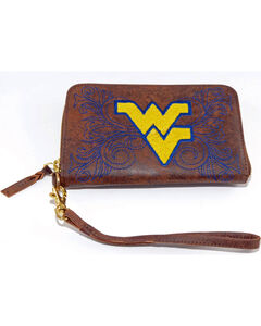 Gameday Boots West Virginia University Leather Wristlet, , hi-res