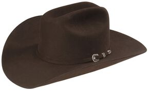 Resistol George Strait 6X City Limits Fur Felt Western Hat, Chocolate, hi-res