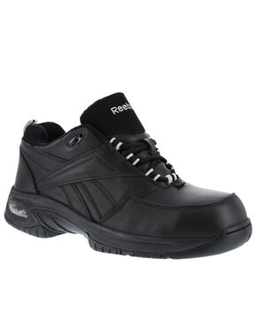 Reebok Men's Tyak High Performance Hiker Work Boots - Composition Toe, Black, hi-res