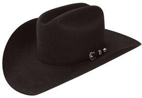 Resistol 6X City Limits George Strait Black Fur Felt Cowboy Hat, Black, hi-res