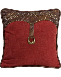 HiEnd Accents Ruidoso Square Red Throw Pillow, , hi-res