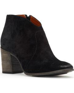 Frye Women's Black Nora Zip Short Boots - Round Toe , Black, hi-res