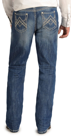 "Rock and Roll Cowboy Double Barrel Relaxed Fit ""A"" Jeans - Straight Leg  , Light Stone, hi-res"