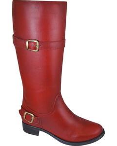 Smoky Mountain Donna Red Tall Riding Boots - Round Toe, , hi-res