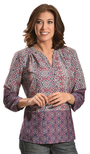 Tantrums Women's Kaleidoscope Print Top  , Multi, hi-res