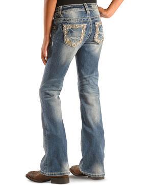 Miss Me Girls' Embellished Indigo Jeans - Bootcut , Indigo, hi-res