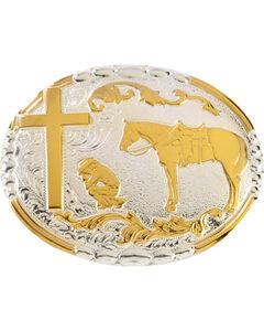 Crumrine Cowboy Prayer Buckle, , hi-res